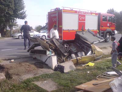 Accident rutier E85 Filipesti 04.10.2011