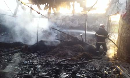 IIncendiu in satul  Margineni. 30-04-2015