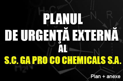 PLANUL DE URGENŢĂ EXTERNĂ AL S.C. GA PRO CO CHEMICALS S.A.